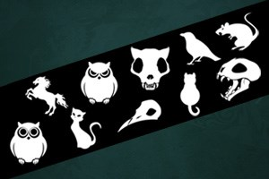 Halloween Animal Symbol Sheet